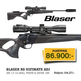 Blaser R8 Ultimate AC + Z8i 1,7-13x42 Belyst + Dämpare Freyr&Devik 196