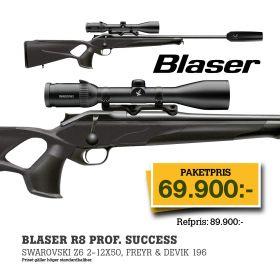 Blaser R8 Prof. Success + Swarovski Z6i 2-12x50 Belyst + Freyr&Devik 196